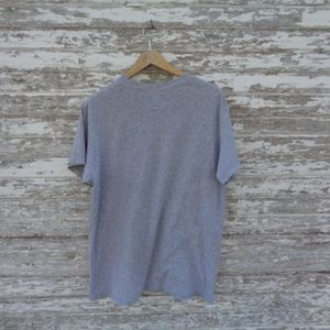 Shirts - No. 189 Distressed Gray Tee Size large